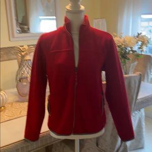 Old Navy red fleece jacket full zip medium